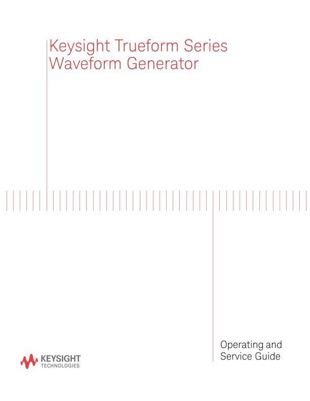 Keysight Trueform Series Operating and Service Guide (English and French)