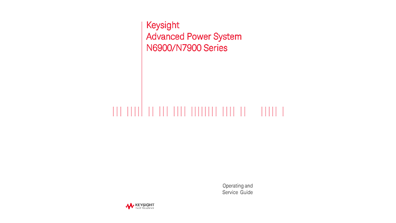 Advanced Power System N6900 & N7900 Series - Operating and Service Guide (PDF version)