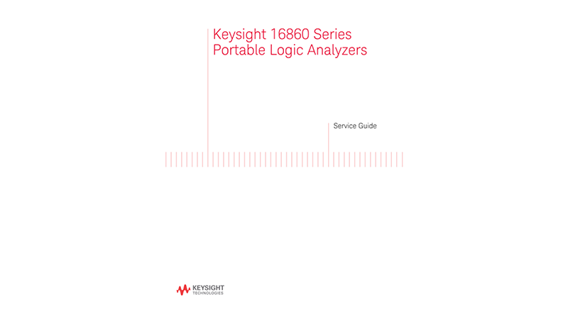16860 Series Portable Logic Analyzer Service Guide