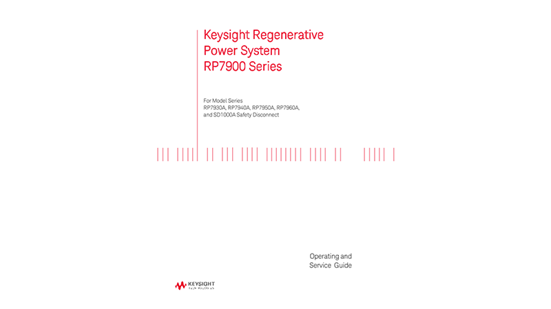 RP7900 Series Operating and Service Guide