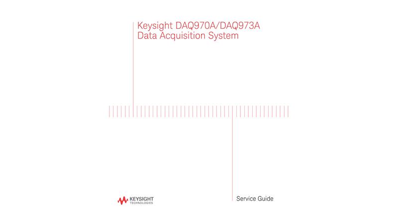 DAQ970A/DAQ973A Data Acquisition System - Service Guide