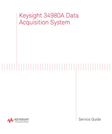 34980A Multifunction Switch/Measure Unit Service Guide   Keysight