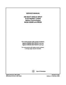 6060B/6063B DC Electronic Loads Service Manual | Keysight