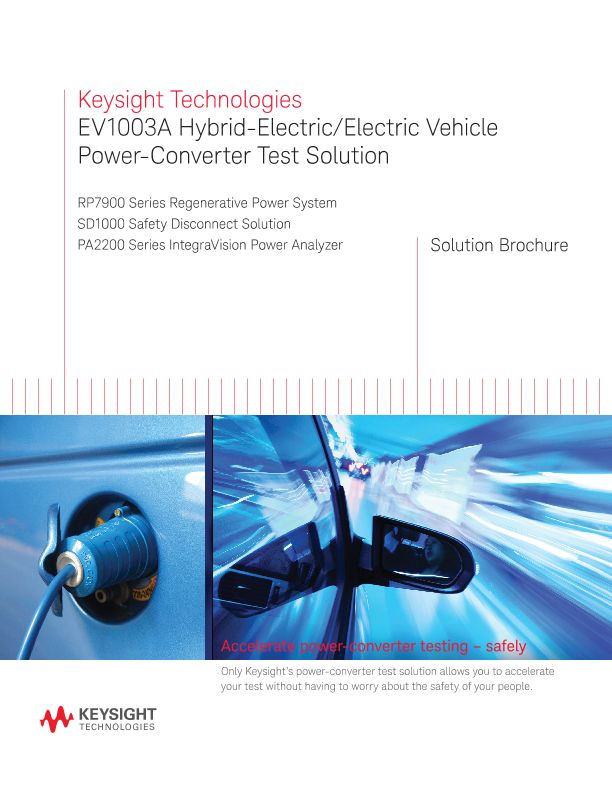 EV1003A Hybrid-Electric/Electric Vehicle Power-Converter Test Solution