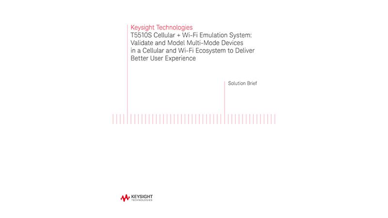 Keysight Technologies T5510S Cellular + Wi-Fi Emulation System