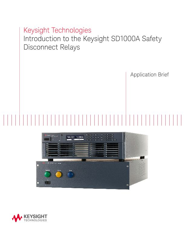 Introduction to the Keysight SD1000A Safety Disconnect Relays