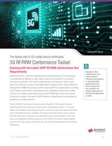 5G RF/RRM Conformance Toolset