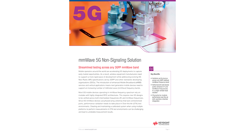 mmWave 5G Non-Signaling Solution