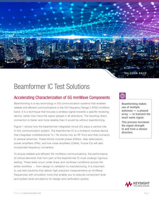 Beamformer IC Test Solution