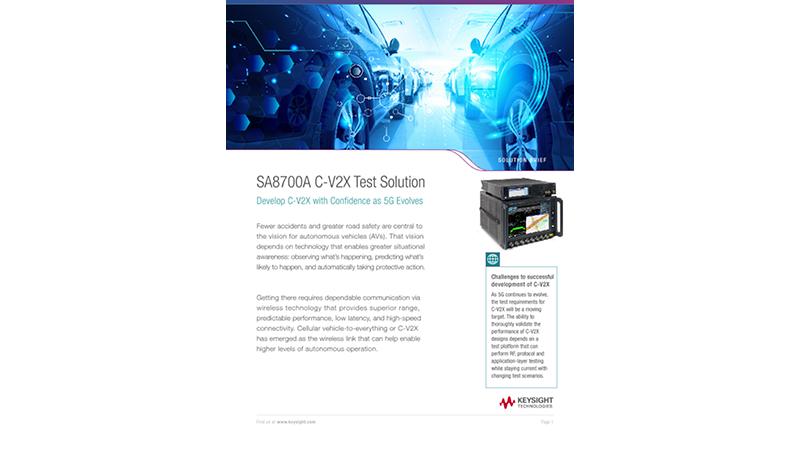 SA8700A C-V2X Test Solution