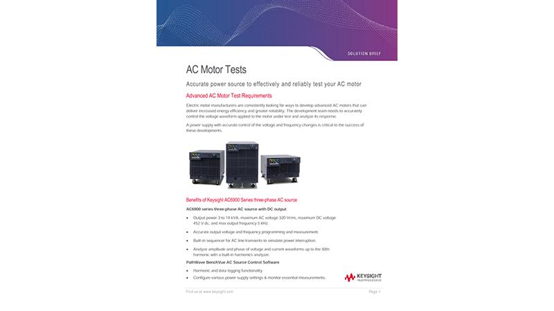 AC Motor Tests