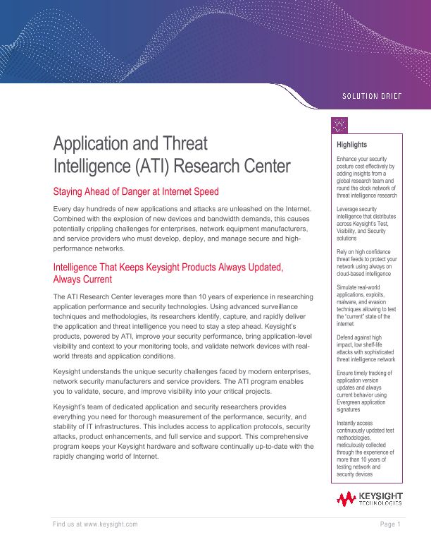 Application and Threat Intelligence (ATI) Research Center
