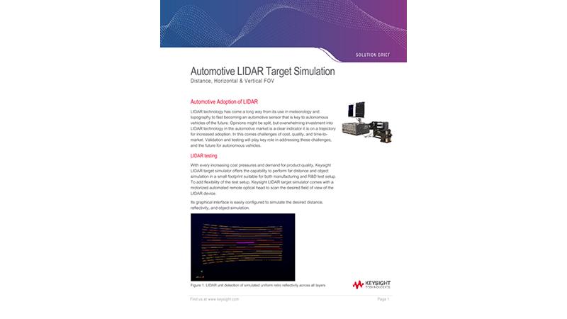 Automotive LIDAR Target Simulation
