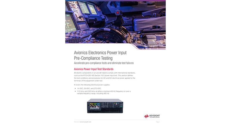 Avionics Electronics Power Input Pre-Compliance Testing