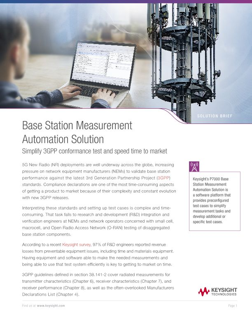 Base Station Measurement Automation Solution