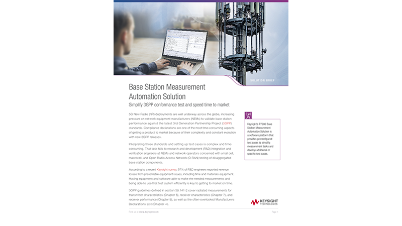 Base Station Measurement Automation Solution