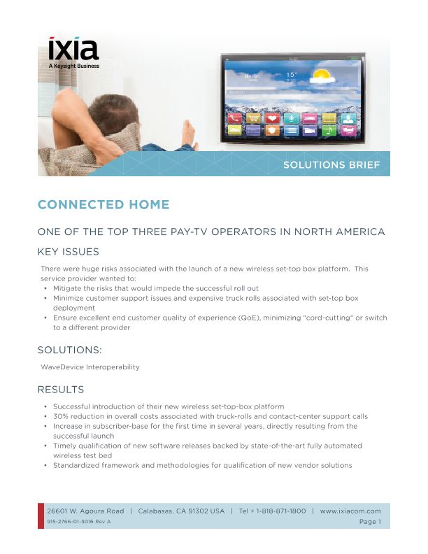 Connected Home Devices