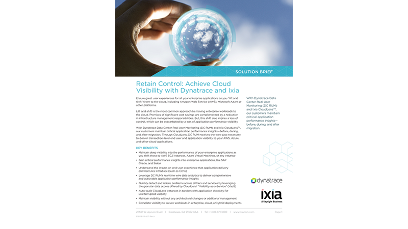 Dynatrace and CloudLens - Retain Control and Achieve Visibility