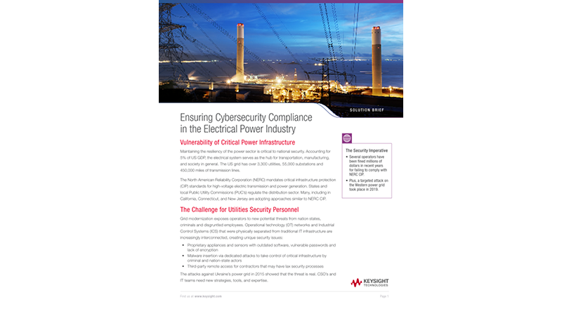 Ensuring Cybersecurity Compliance in the Electrical Power Industry