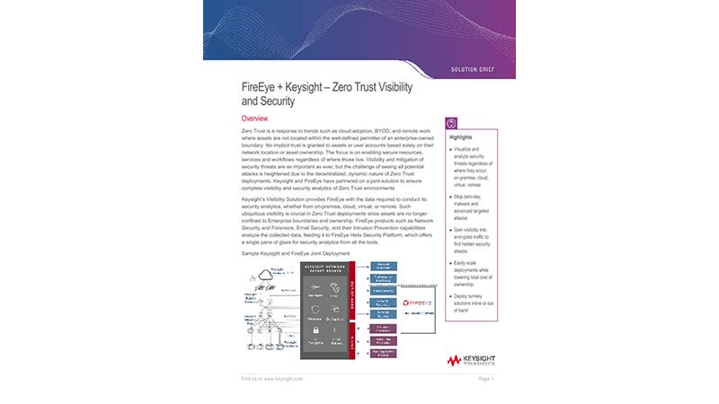 FireEye + Keysight – Zero Trust Visibility and Security