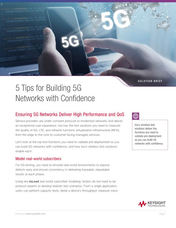 5 Tips for Building 5G Networks with Confidence