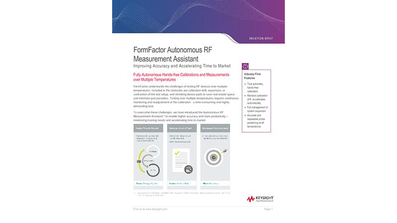 FormFactor Autonomous RF Measurement Assistant