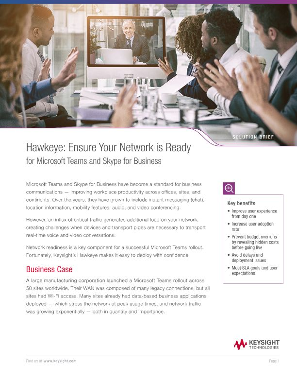 Hawkeye: Ensure Your Network is Ready for Microsoft Teams and Skype for Business