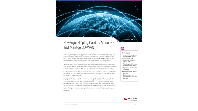 Hawkeye: Helping Carriers Monetize and Manage SD-WAN