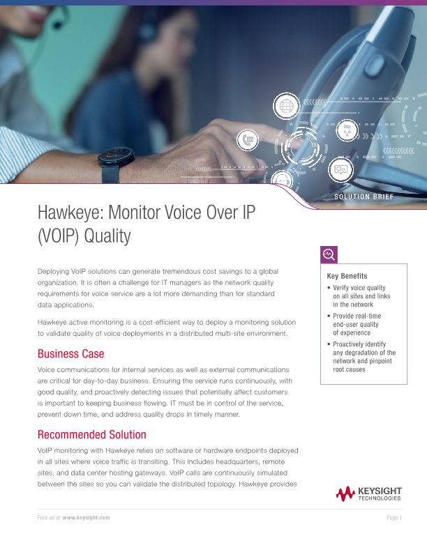 Hawkeye - Monitor Voice over IP (VoIP) Quality