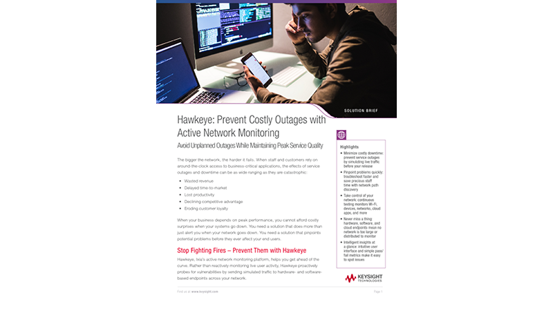 Hawkeye: Prevent Costly Outages with Active Network Monitoring
