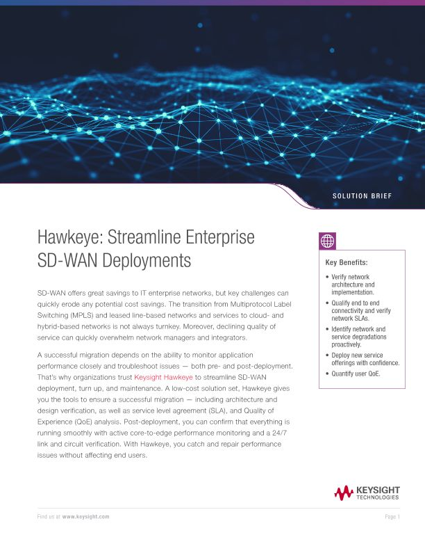 Hawkeye: Streamline Enterprise SD-WAN Deployments