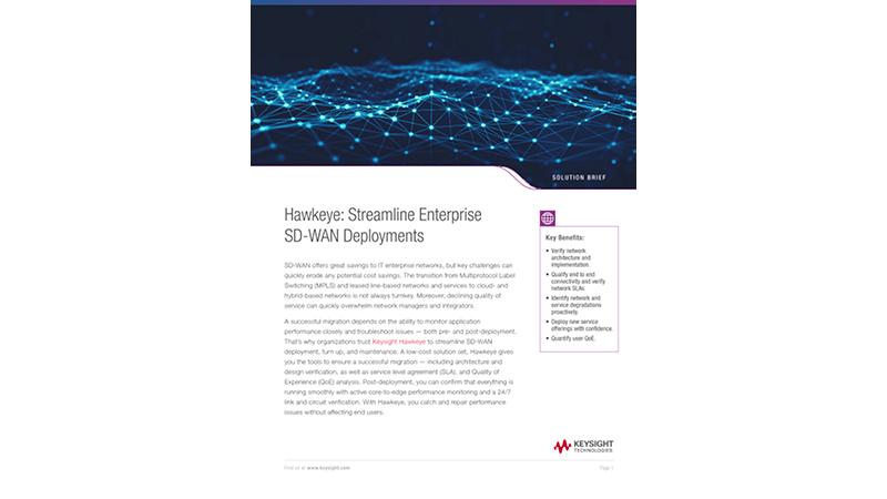 Hawkeye: Streamline Enterprise SD-WAN Deployments