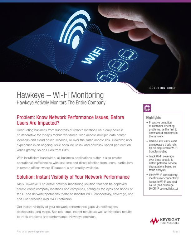 Hawkeye – Wi-Fi Monitoring