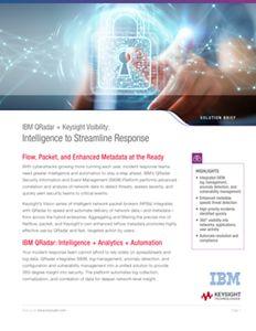 IBM QRadar + Ixia Visibility: Intelligence to Streamline Response