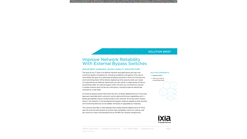 Improve Network Reliability With External Bypass Switches
