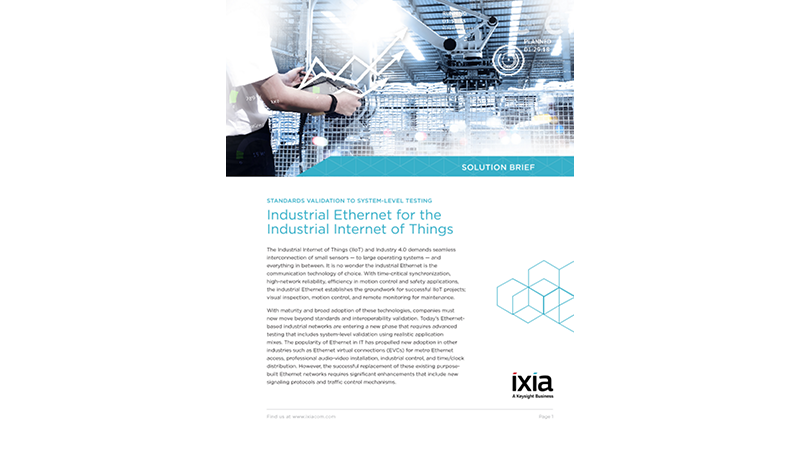 Industrial Ethernet for the Industrial Internet of Things