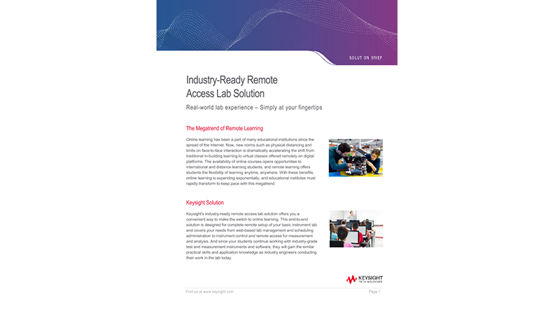 Industry-Ready Remote Access Lab