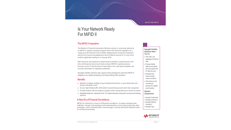 Is Your Network Ready For MiFID II