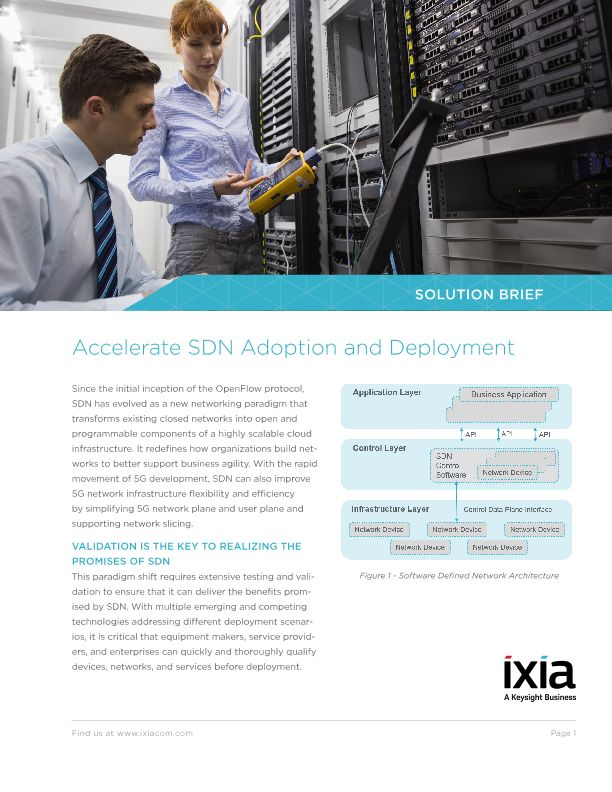 Accelerate SDN Adoption and Deployment