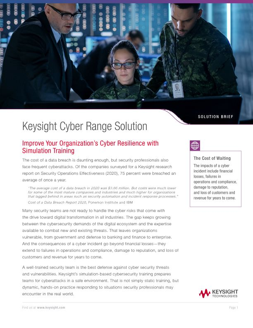 Keysight Cyber Range Solution