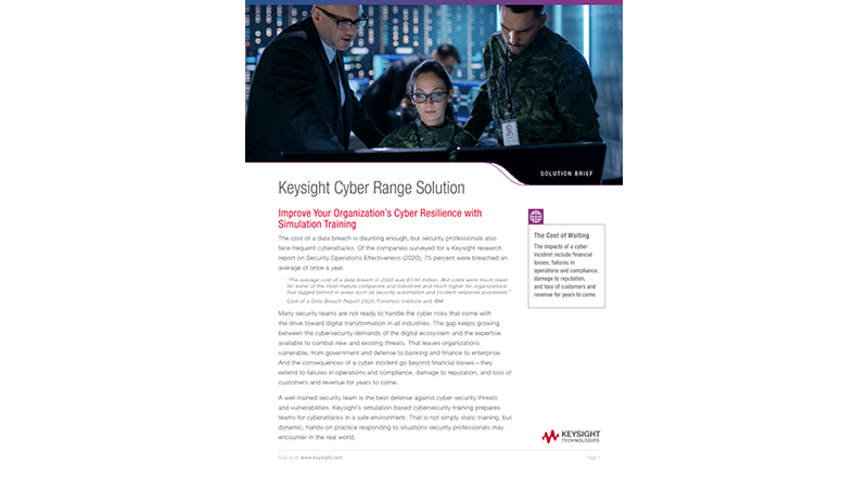 Keysight Cyber Range Solution