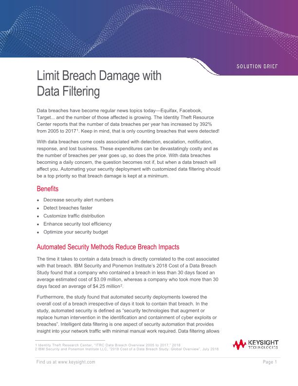 Limit Breach Damage with Data Filtering