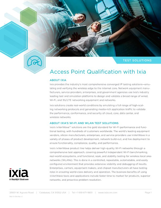 Microsoft Partner Wireless Access Point Qualification Testing
