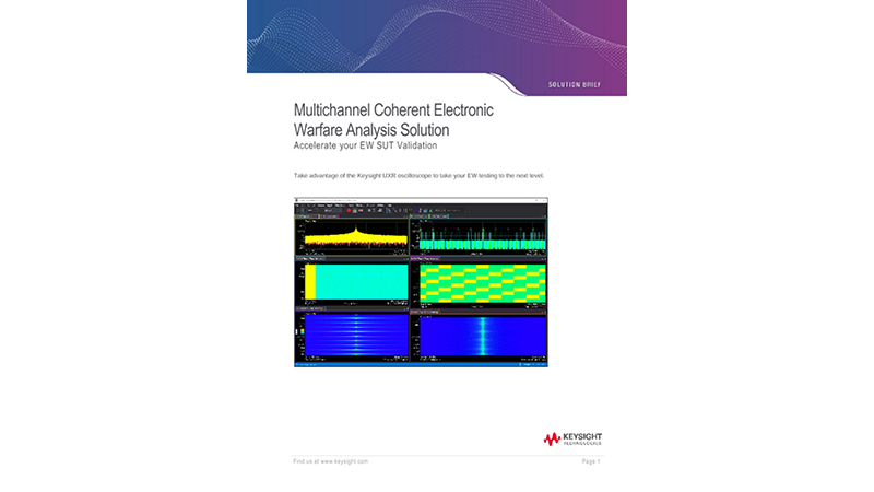 Multichannel Coherent Electronic Warfare Analysis Solution