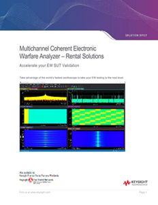 Multichannel Coherent Electronic Warfare Analyzer - Rental Solutions