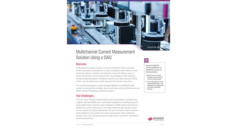 Multichannel Current Measurement Solution Using a DAQ