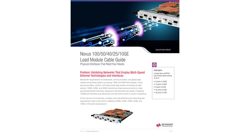 Novus 100/50/40/25/10GE Load Module Cable Guide