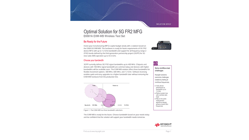 Optimal Solution for 5G FR2 MFG