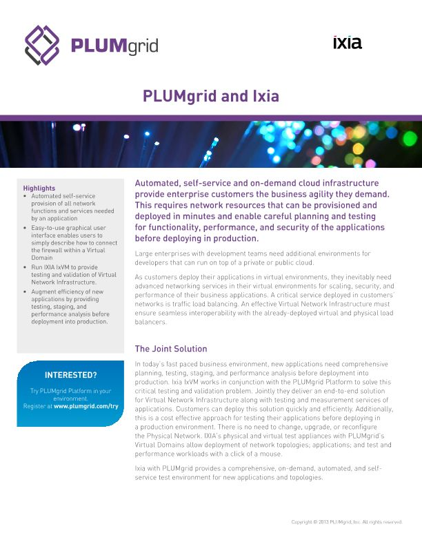 PLUMgrid Solution Brief