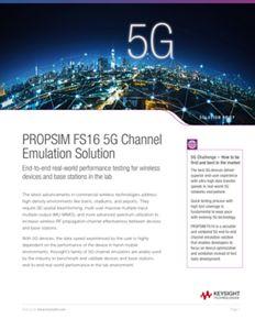 PROPSIM FS16 5G Channel Emulation Solution